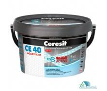 Затирка для швів плитки еластична вологостійка до 5 мм Ceresit CE-40 2 кг, світло-блакитний
