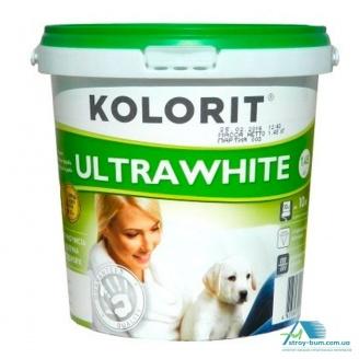 Фарба акрилова водно-дисперсійна Kolorit UltraWhite 10 л