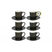 Набір кавових чашок TOGNANA RELIEFGOLD BLA 6 шт 90 мл (RE18501M007)