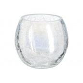 Ваза для квітів ATMOSPHERA Сrackle кругла прозора 8x7 см (114840-transparent)