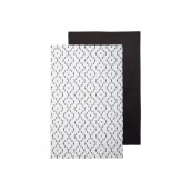 Рушник кухонне ATMOSPHERA чорне/біле 45x70 см 2 шт (163981)