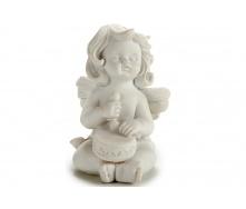Статуетка Ангел з барабаном ARTE REGAL білий 5x7x9 см 85 г (20027-4)
