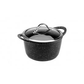 Кастрюля с крышкой VINZER Premium Granite Induction Line диаметр 20 см 3,1 л (89451)
