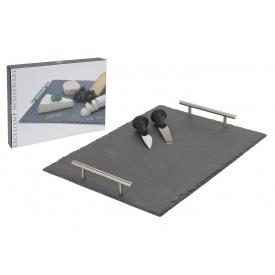 Набор доска для сыра с 2 ножами KOOPMAN 30x40 см (170423600)