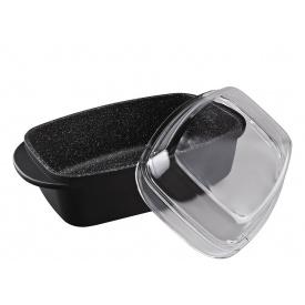 Гусятница со стеклянной крышкой GRANCHIO Marmo Induction 32х21см 88011