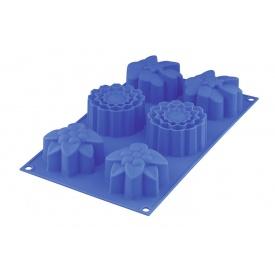 Форма для маффинов GRANCHIO SilicoFlex «Spring flower» 6 шт. 30х17 см (88432)