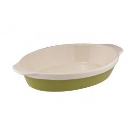Овальная форма для выпекания GRANCHIO Natura Oliva Green Ceramica 42x28,3x6,5 (88516)