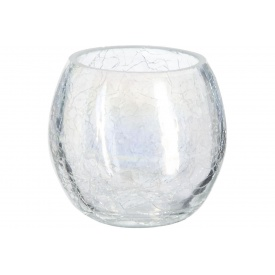 Ваза для цветов ATMOSPHERA Сrackle круглая прозрачная 8x7 см (114840-transparent)