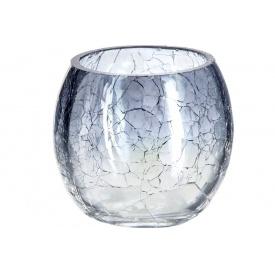 Ваза для цветов ATMOSPHERA Сrackle круглая серая 8x7 см (114840-gray)