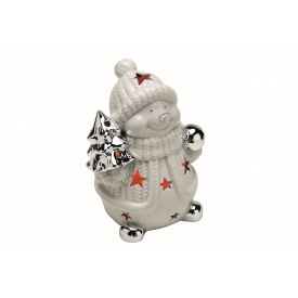 Декоративный снеговик TOGNANA Natale Collection 17см (NT1PU05SILV)