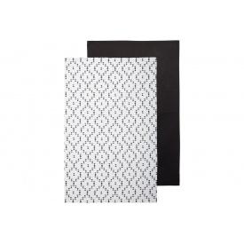 Полотенце кухонное ATMOSPHERA черное/белое 45x70 см 2 шт (163981)