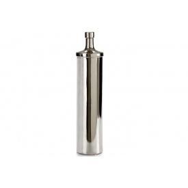Бутылка ARTE REGAL керамическая округлая большая черное серебро 11x11x50 см (21333)