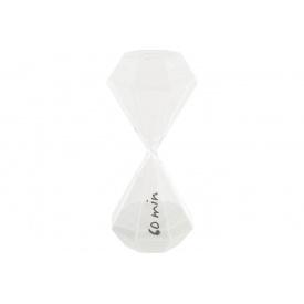 Часы песочные ATMOSPHERA белые на 60 минут 10x10x25 см (150674-white)
