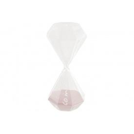 Часы песочные ATMOSPHERA розовые на 60 минут 10x10x25 см (150674-pink)