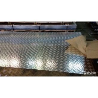 Лист алюминиевый рифлёный квинтет 1х1500х3000 мм марка 1050Н