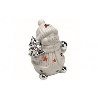 Декоративний сніговик TOGNANA Natale Collection 17см (NT1PU05SILV)