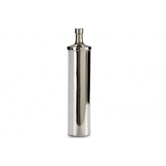 Пляшка ARTE REGAL керамічна округла велика чорне срібло 11x11x50 см (21333)