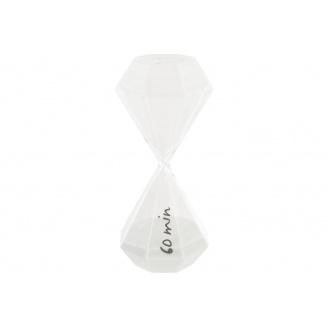 Годинник пісочний ATMOSPHERA білі на 60 хвилин 10x10x25 см (150674-white)