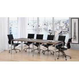 Стіл для переговорів Q-2700х750х1000 мм LoftDesign лдсп горіх-модена