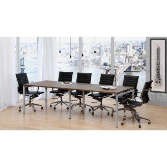 Стол для переговоров Q-2700х750х1000 мм LoftDesign лдсп орех-модена