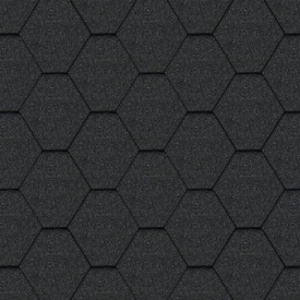 Битумная черепица Aquaizol Мозаика 320x1000 мм Морион
