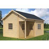 Дом деревянный из профилированного бруса 5.6х4.1