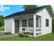 Дом деревянный из профилированного бруса 6х5.1