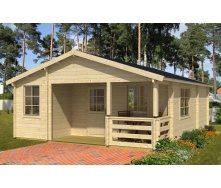 Дом деревянный из профилированного бруса 6х8