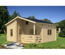 Дом двухэтажный деревянный из профилированного бруса 5.9х5.7