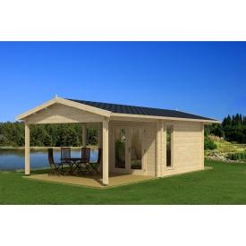 Дом деревянный из профилированного бруса 3х3.5