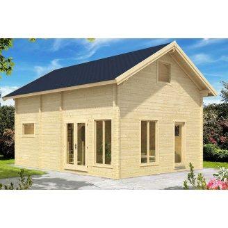 Дом деревянный из профилированного бруса 5.6х7.6