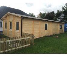 Дом деревянный из профилированного бруса 12х5