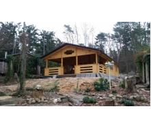 Дом деревянный из профилированного бруса 7х12