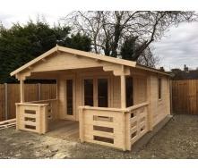 Будинок дерев`яний з профільованого бруса 6х4