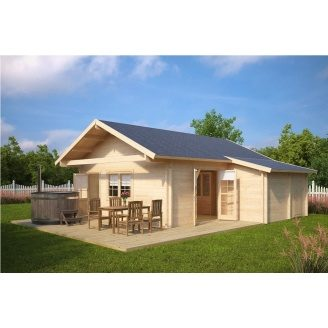 Дом деревянный из профилированного бруса 7х7