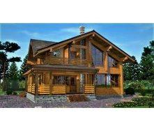 Деревянный дом из профилированного бруса 13х11 м