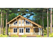 Дерев`яний будинок з профільованого бруса 14х12 м