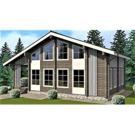 Деревянный дом из профилированного бруса 8х13 м