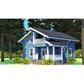 Двухэтажный деревянный дом из профилированного бруса 9х10 м