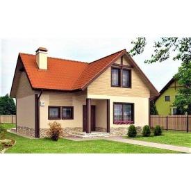Дом деревянный из профилированного бруса 14х12 м