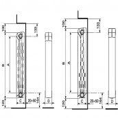 Радіатор біметалічний Alltermo Bimetall 582х80 мм