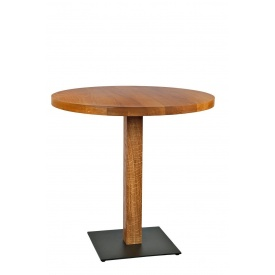 Стол Кельн массив ясеня 80 cм + опора Wood
