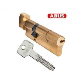 Цилиндр ABUS KD15 80мм 40x40Т ключ - вороток латунь матовая