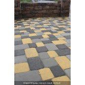 Тротуарная плитка СТАРАЯ ПЛОЩАДЬ 6 см желтый Золотой Мандарин