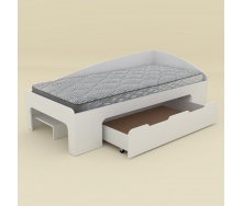 Кровать Компанит 90+1 лдсп 90х2000 мм белая
