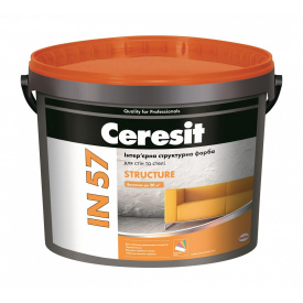Інтер'єрна структурна фарба Ceresit IN 57 STRUCTURE База А акрилова 10 л