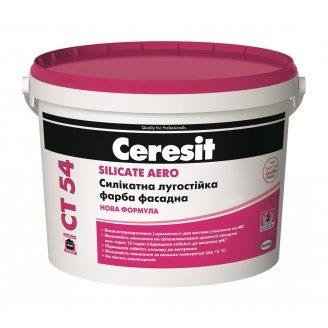 Фасадна фарба Ceresit CT 54 силікатна 10 л