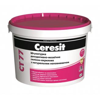 Штукатурка декоративно-мозаичная Ceresit CT 77 силикон-акриловая 1,4-2,0 мм 14 кг PERU 4