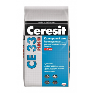 Затирка для швов Ceresit CE 33 plus 2 кг 110 светло-серый