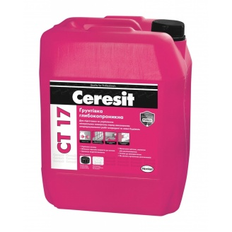Глубокопроникающая грунтовка Ceresit СТ 17 10 л для подготовки и укрепления основания